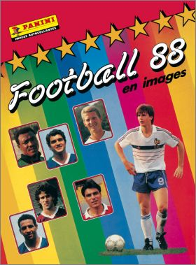 Football 88 en images - Sticker album - France - Panini 1987
