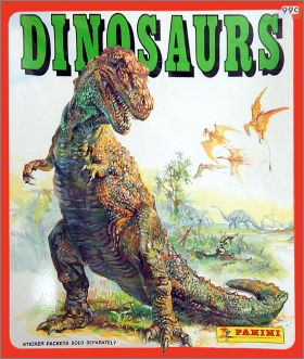 Dinosaurs - Sticker Album - Panini USA Canada - 1992
