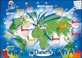 16 Stickers des Grandes Nations du Football 2010 - Danette