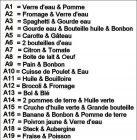 Liste images Alimentaire N°1