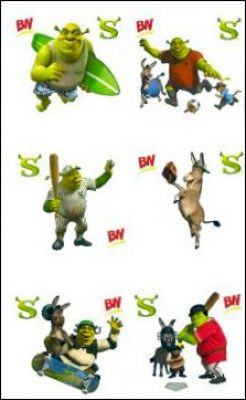"BN Double-stickers ""Shrek"" 6 à Collectionner - France"