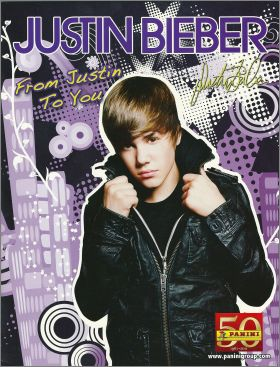 Justin Bieber From Justin to You - Sticker Album Panini 2011