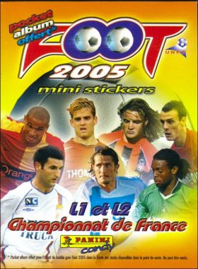 FOOT 2005 Championnat de France de L1 et L2 - pocket album