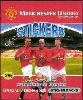 Manchester United Sticker Album - Europe 2001