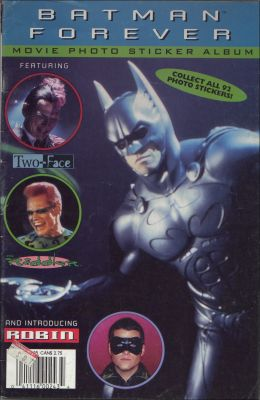 Batman Forever - Movie photo album sticker - Angleterre