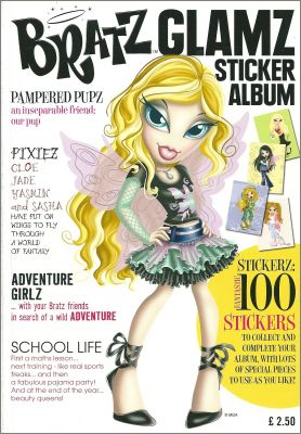 Bratz Glamz - Sticker Album Preziosi Collection - 2006 - UK
