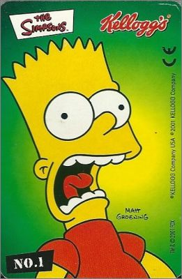 The Simpsons (Les Simpsons) Cartes Kellogg's 2001 Allemagne