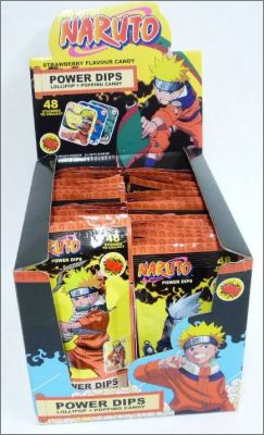Naruto Power Dips  Lollipop + Popping - 48 stickers  bip