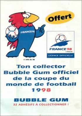 Bubble Gum Coupe du Monde 1998 - Fleer - France