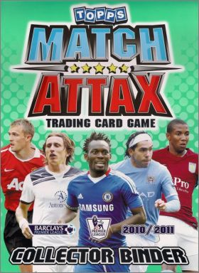 Match Attax 2010/2011 - Trading Card Game - Angleterre