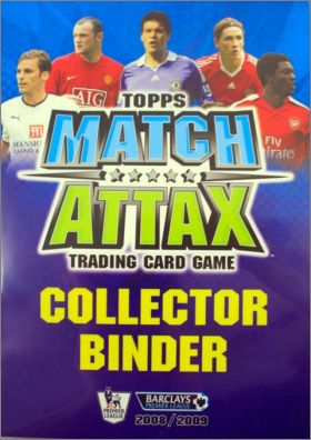 Match Attax 2008 - 2009 – Trading Cards - Angleterre