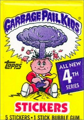 Garbage Pail Kids série 4 - Topps Chewing Gum