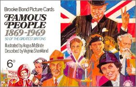 Famous People 1896 - 1969 Brooke Bond Picture cards -  UK