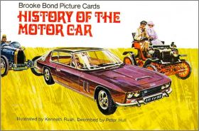 History of the Motor Car Brooke Bond Picture cards  -  UK