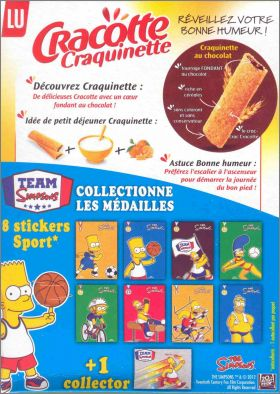 Team Simpsons 8 stickers Sport + 1 sticker Collector - Lu