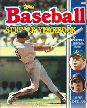 Baseball Sticker Yearbook 1988 Edition - Topps - USA/Canada