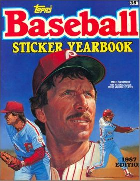 Baseball Sticker Yearbook 1987 Edition - Topps - USA/Canada