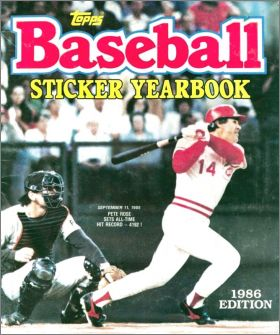 Baseball Sticker Yearbook 1986 Edition - Topps - USA/Canada