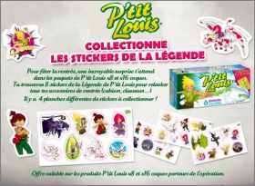 La légende de P'tit Louis - 4 planches de 8 stickers