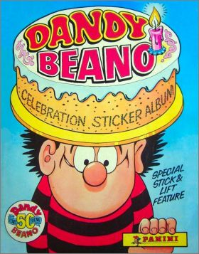 Dandy Beano - 50th Celebration sticker album - Angleterre