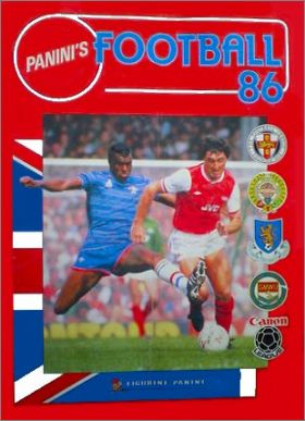 Football 86 - Figurine Panini - Angleterre