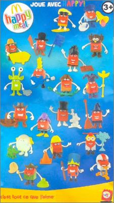 Joue avec Happy! - Cartes Happy Meal - Mc Donald -  2012
