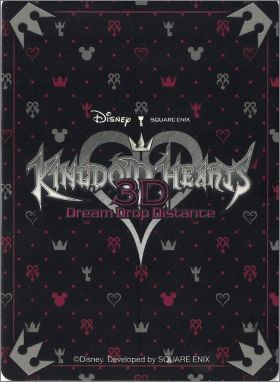 Kingdom Hearts 3D  Dream Drop Distance Nintendo 3DS Cartes