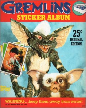 Gremlins - Stickers Topps - Angleterre - 1984