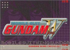 Mobile suit Wing Gundam - Trading Cards - Upper Deck - 2000
