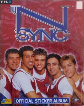 NSYNC - Official sticker album - DS Sticker collections 1997