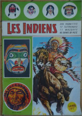 Les Indiens - Album de vignettes - Sagedition - 1960