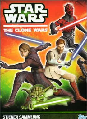 Star Wars The Clone Wars - Topps - Allemagne 2013 (dos vert)