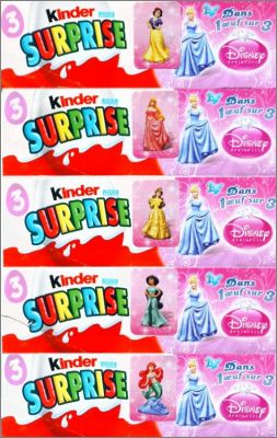 Princesses Disney - Autocollants sur les boites de kinder