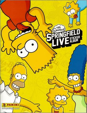 The Simpsons SPRINGFIELD LIVE sticker album Panini