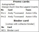 Liste Promo cards, Binder card