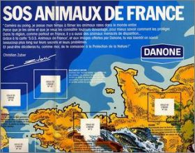 SOS Animaux de France - 45 Stickers Danone - France 1977