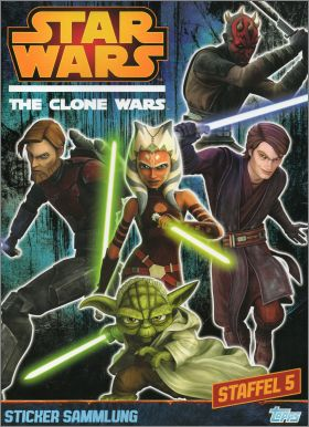 Star Wars The Clone Wars - Topps Allemagne 2014 (dos rouge)