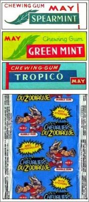 Chevaliers du zodiaque - Autocollant Chewing Gum MAY