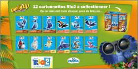 Rio 2 - Candy'up - Candia - 12 cartonnettes à Collectionner