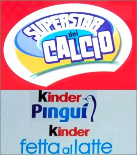 Carte Superstar del Calcio - Panini - Kinder - Italie