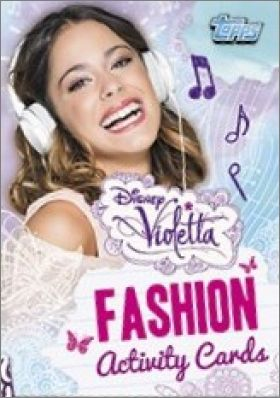 Violetta Fashion Activity Cards - Topps - 2014 - France