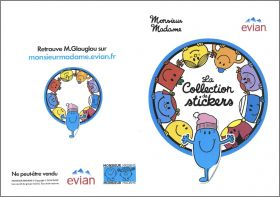 Monsieur  Madame - 30 Stickers - Evian - 2014