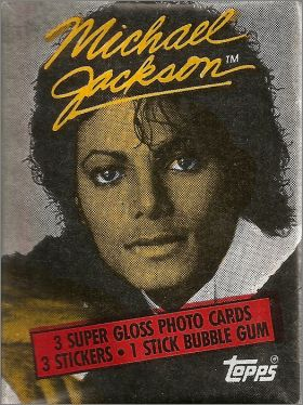 Michael Jackson - Trading cards Topps - Angleterre