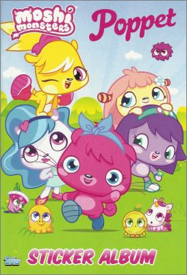 Moshi Monsters Poppet - Stickers Album - Topps - Angleterre