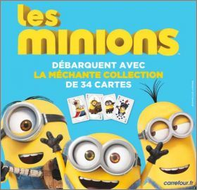 les minions la m chante collection 34 cartes carrefour. Black Bedroom Furniture Sets. Home Design Ideas