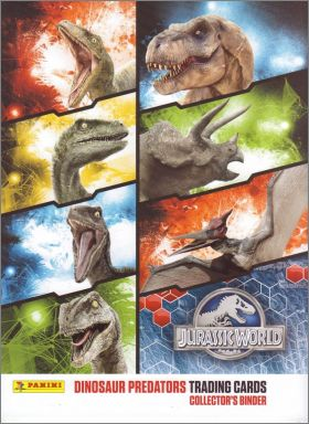 Jurassic World - 162 trading cards - Panini Belgique - 2015
