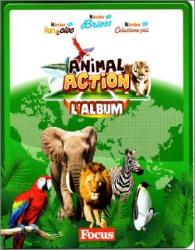 Animal Action 3D cartes -  Kinder Ferrero - Italie