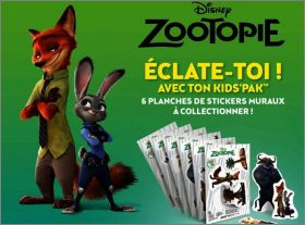 Zootopie - 6 planches d'autocollants - Disney Pixar - Subway