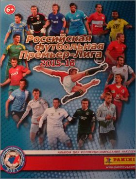 Football Premier league 2015-16 Sticker Album Panini Russie