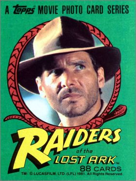 Raiders of the lost ark - Topps - Angleterre -1981